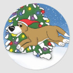 Holiday Flyball Round Sticker