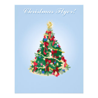 Holiday Flyer: Colorful Christmas Tree Flyer