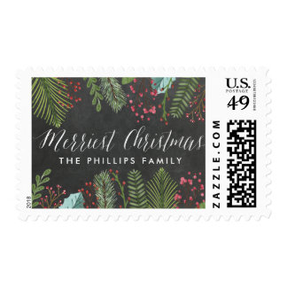 Holiday Foliage | Personalized Merry Christmas Postage