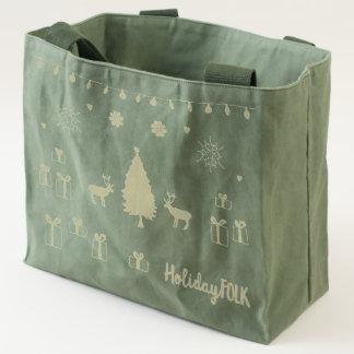 Holiday Folk Shopping Tote