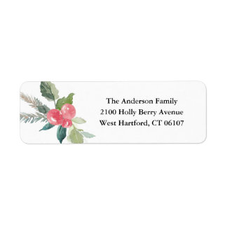 Holiday Forest Address Labels