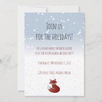 Holiday Fox Party Invitation