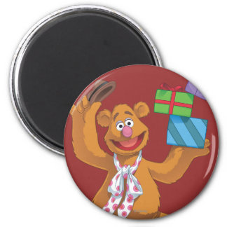 Holiday Fozzie the Bear 2 2 Inch Round Magnet