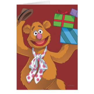 Holiday Fozzie the Bear 2 Card