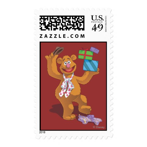Holiday Fozzie the Bear 2 Stamp