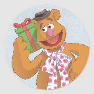 Holiday Fozzie the Bear Classic Round Sticker