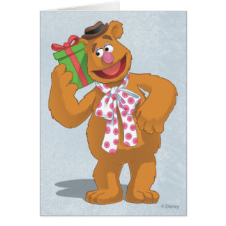 Holiday Fozzie the Bear Greeting Card