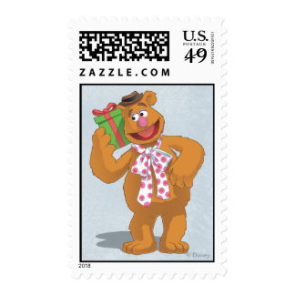 Holiday Fozzie the Bear Postage Stamp