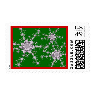 Holiday Fractal Snowflakes Stamp