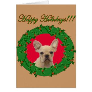 Holiday French Bulldog notecard