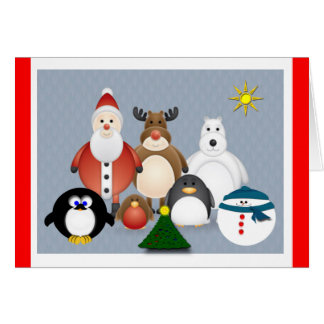 Holiday Friends Greeting Card