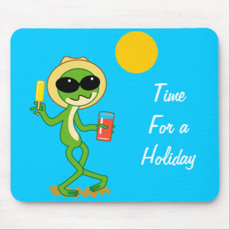 Holiday Frog Mouse Pad