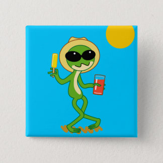 Holiday Frog Pinback Button