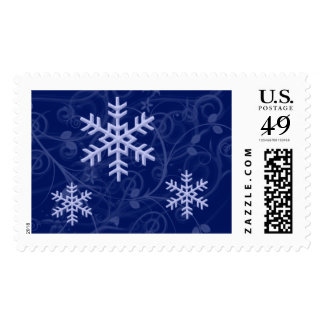 Holiday Frost Snowflake Custom Postage