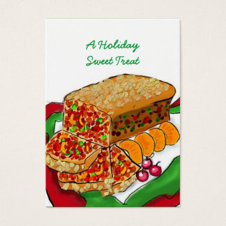 HOLIDAY FRUITCAKE BASKET TAGS ~ GIFT TAG CARDS
