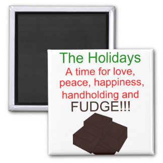 Holiday Fudge 2 Inch Square Magnet