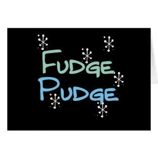 Holiday Fudge Pudge Cards