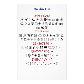 Holiday Fun Personalized Stationery