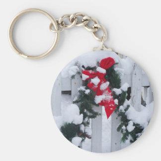 holiday garland basic round button keychain