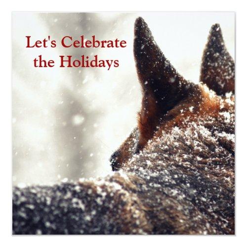 Holiday German Shepherd Invitation