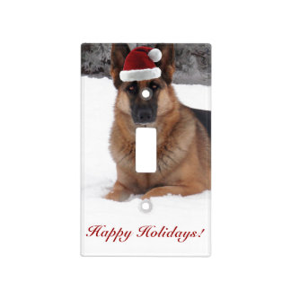 Holiday German Shepherd Light Switch Cover