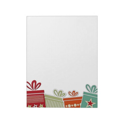 Holiday Gift Border Note Pads Zazzle
