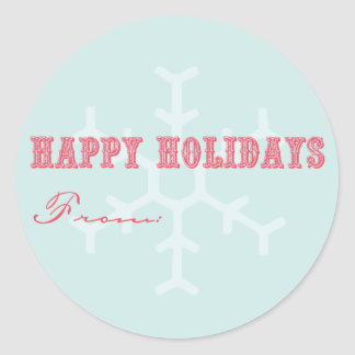 Holiday Gift Labels Classic Round Sticker