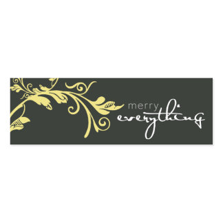HOLIDAY GIFT TAG :: bold vine 1 Business Card