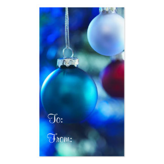 Holiday Gift Tag Double-Sided Standard Business Cards (Pack Of 100)