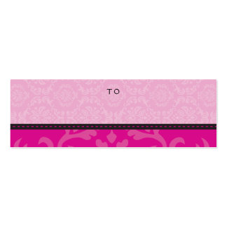 HOLIDAY GIFT TAG :: divinely damask 1 Mini Business Card