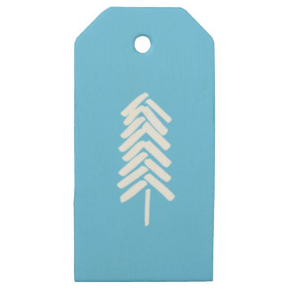 Holiday Gift-Wrap Wooden Gift Tags