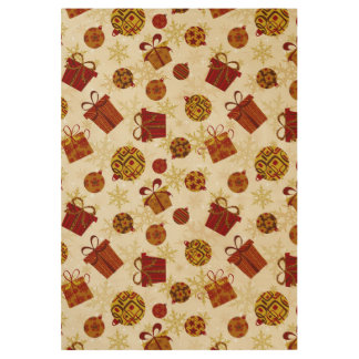 Holiday Gifts & Christmas Ornaments Wood Poster