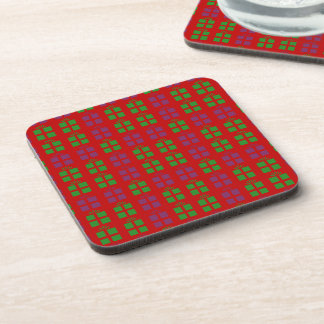 Holiday gifts pattern coaster