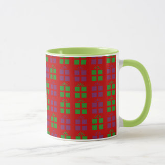 Holiday gifts pattern mug