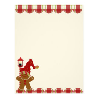 Holiday Gingerbread Cookie Letterhead