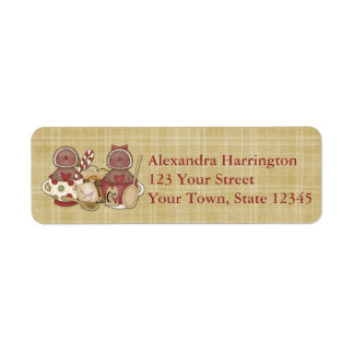 Holiday Gingerbread Cookies Label