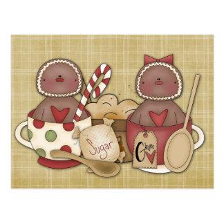 Holiday Gingerbread Cookies Postcard