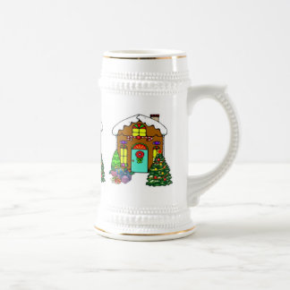 Holiday Gingerbread House Beer Stein