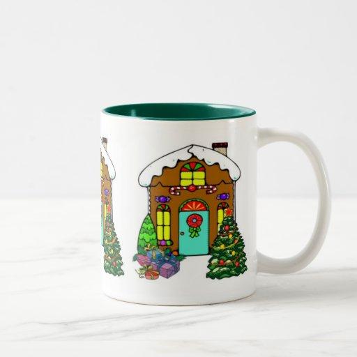 Holiday Gingerbread House Coffee Mugs