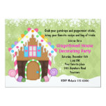 Holiday Gingerbread House Decorating Party 5x7 Paper Invitation Card