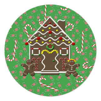 Holiday Gingerbread House Sweet Wishes Card