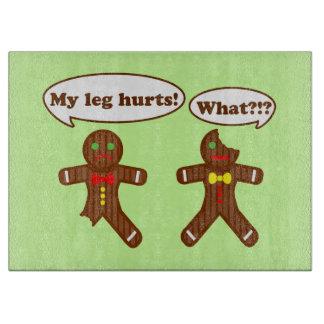 Holiday Gingerbread Humor Cutting Board