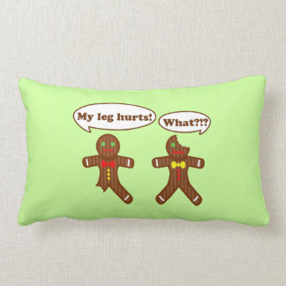 Holiday Gingerbread Humor Lumbar Pillow
