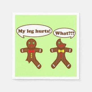 Holiday Gingerbread Humor Napkin