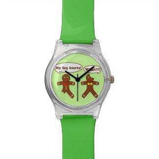 Holiday Gingerbread Humor Wrist Watch