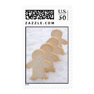 Holiday Gingerbread Men Postage Stamps