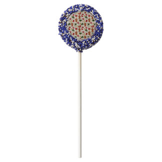 Holiday Gingerbread Pattern Chocolate Covered Oreo Pop