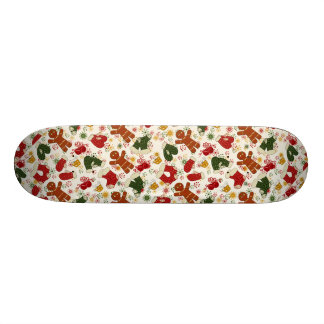 Holiday Gingerbread Pattern Skateboard