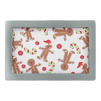 Holiday Gingerbread Rectangular Belt Buckle