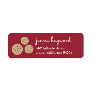 Holiday Gingersnap Cookie Return Address Label